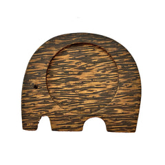 Coconut Wood Elephant Coaster - Modern