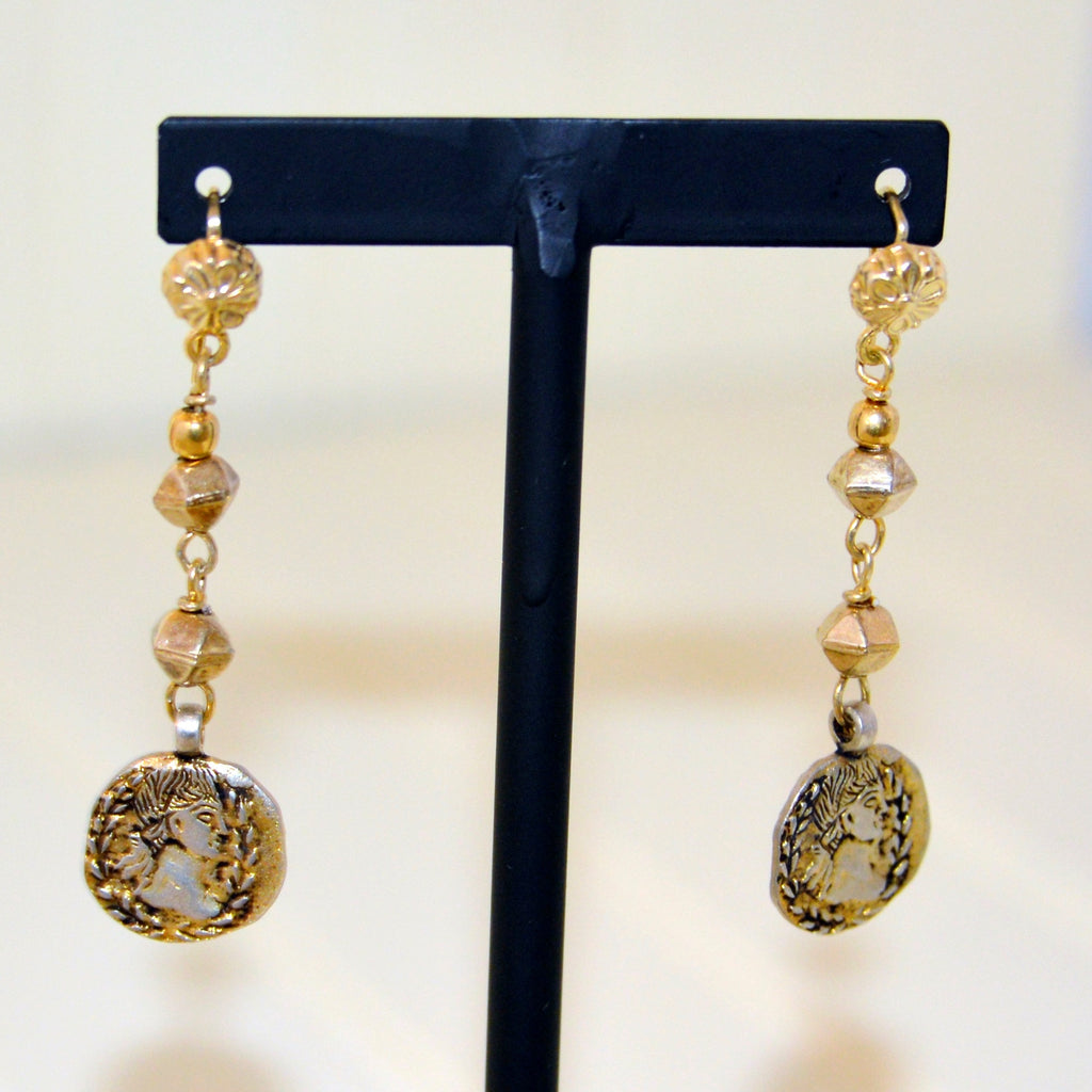 Indian Silver & Brass Earrings