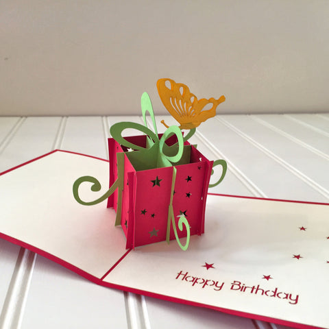 Vietnamese Hand-made Pop-up Card - Birthday Package