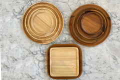 Medium Round Wood Tray