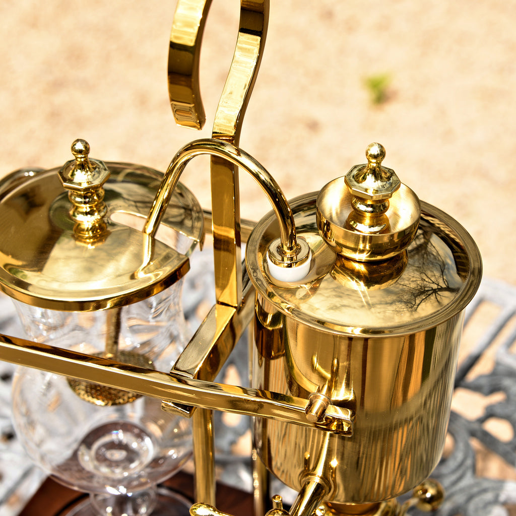 Royal Belgium Coffee Maker (Gold/Brass)