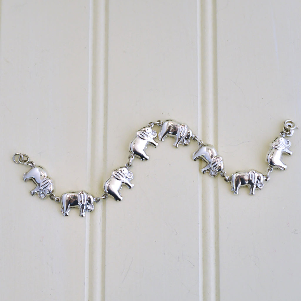 Elephants Linked Together Bracelet