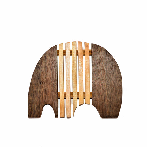 Wood Elephant Bread Board/Trivet - Modern