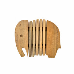 Wood Elephant Bread Board/Trivet