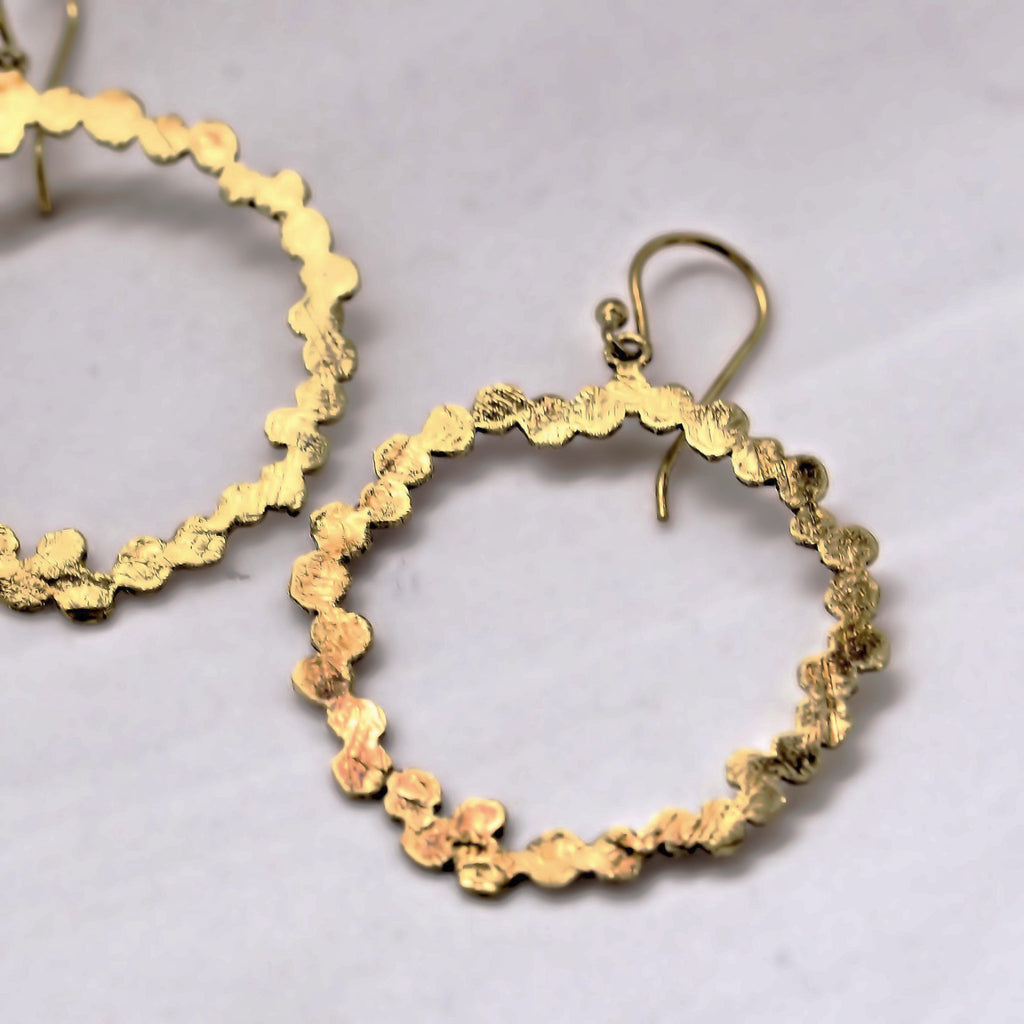 Gold Plated Circle Loop Earrings