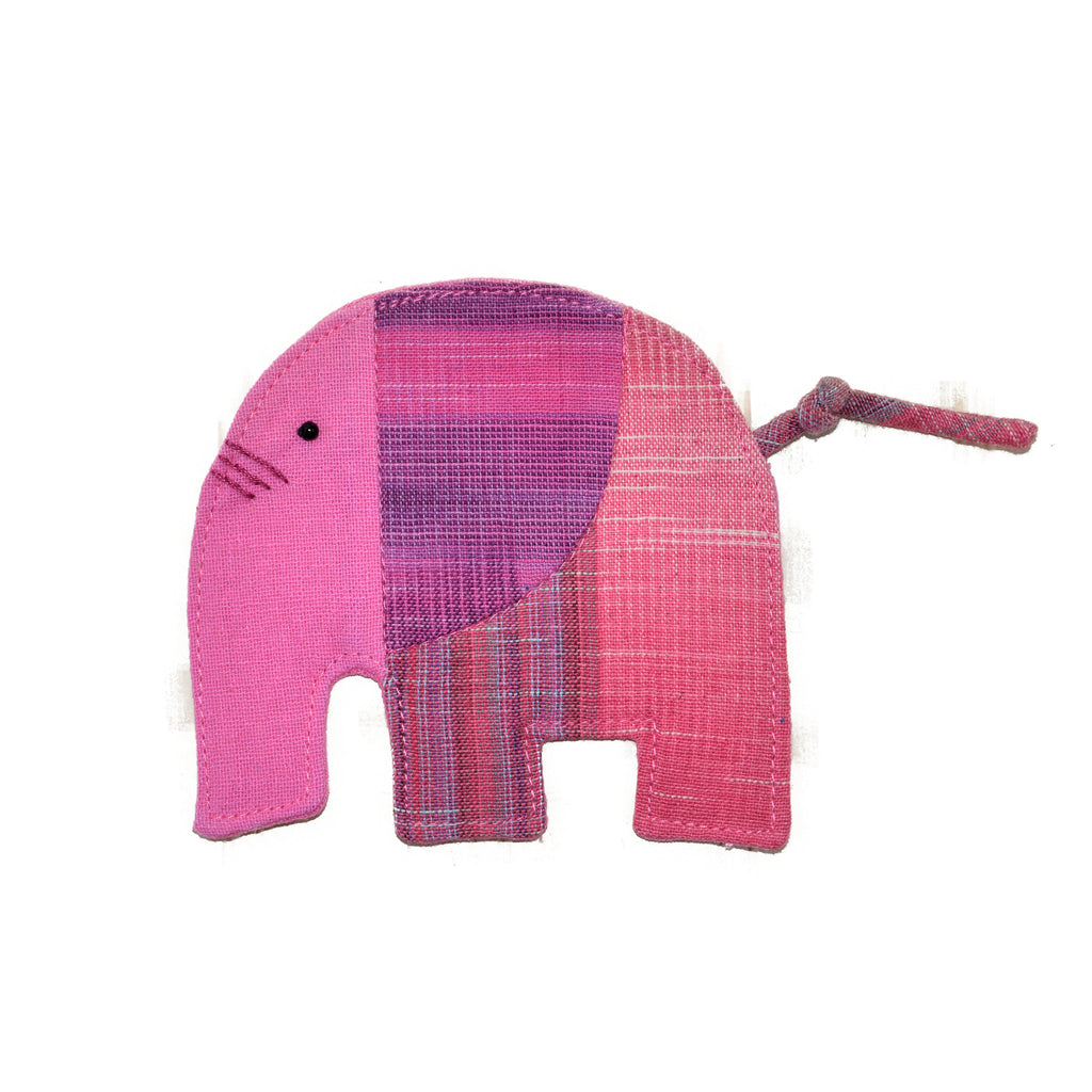 Cotton Elephant Coaster - Pink