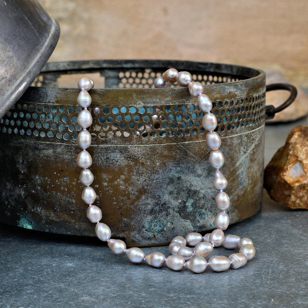 Grey Freshwater Pearl Necklace