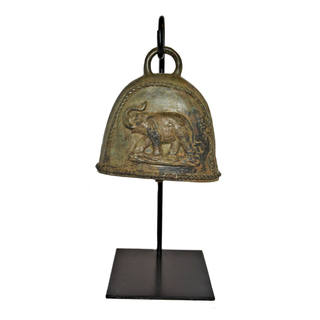 Antique Elephant Bell with Stand