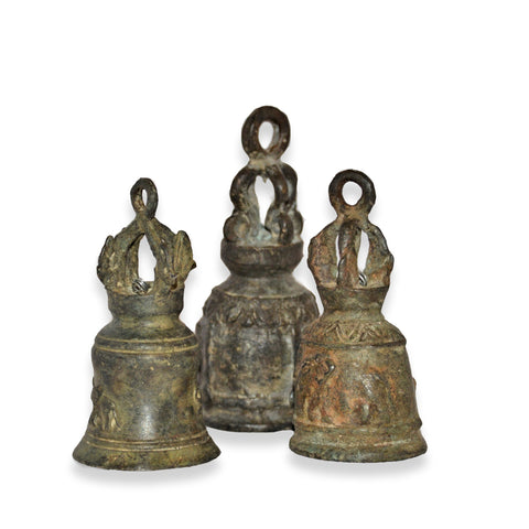 Assorted Antique Elephant Temple Bells