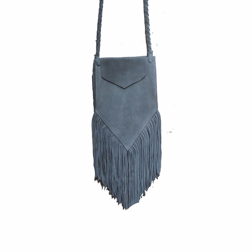Olivia Dar Grey Suede Bag