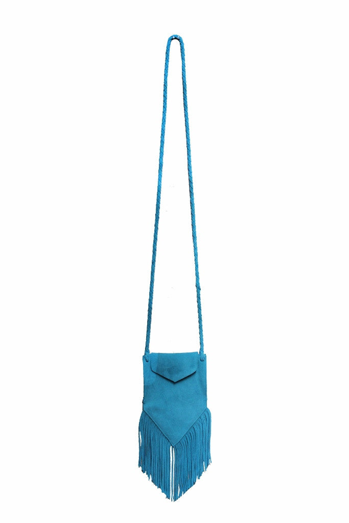 Olivia Dar Turquoise Suede Bag