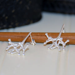 Sterling Silver Branch Stud Earrings