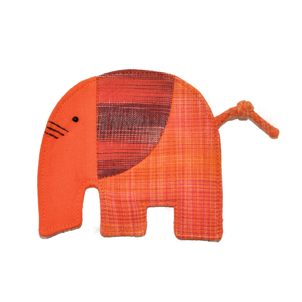 Cotton Elephant Coaster - Orange