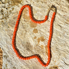 Orange Bead Hill Tribe Necklace