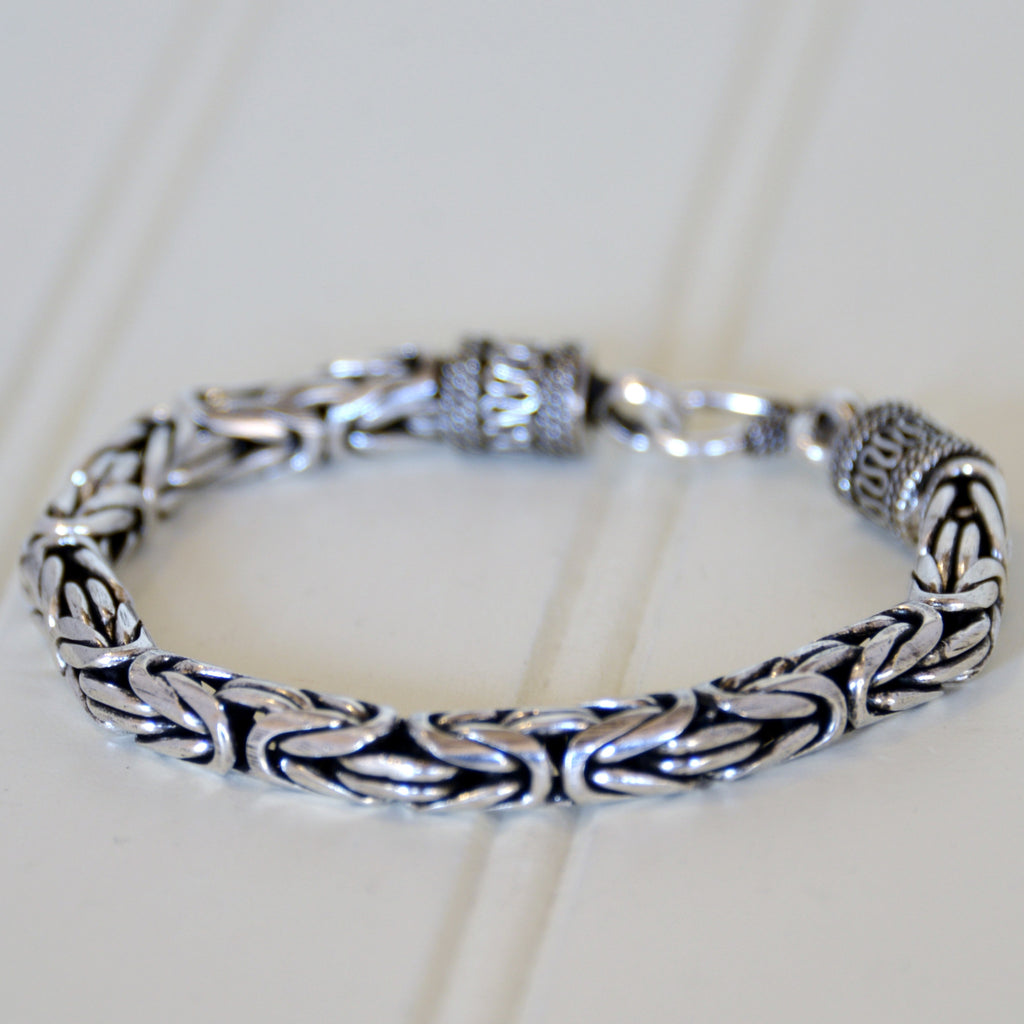 Mens Borobudur Chain Bracelet (medium thickness)