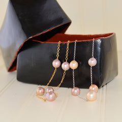 Baroque Pearls on Chain Necklace (20 inch)