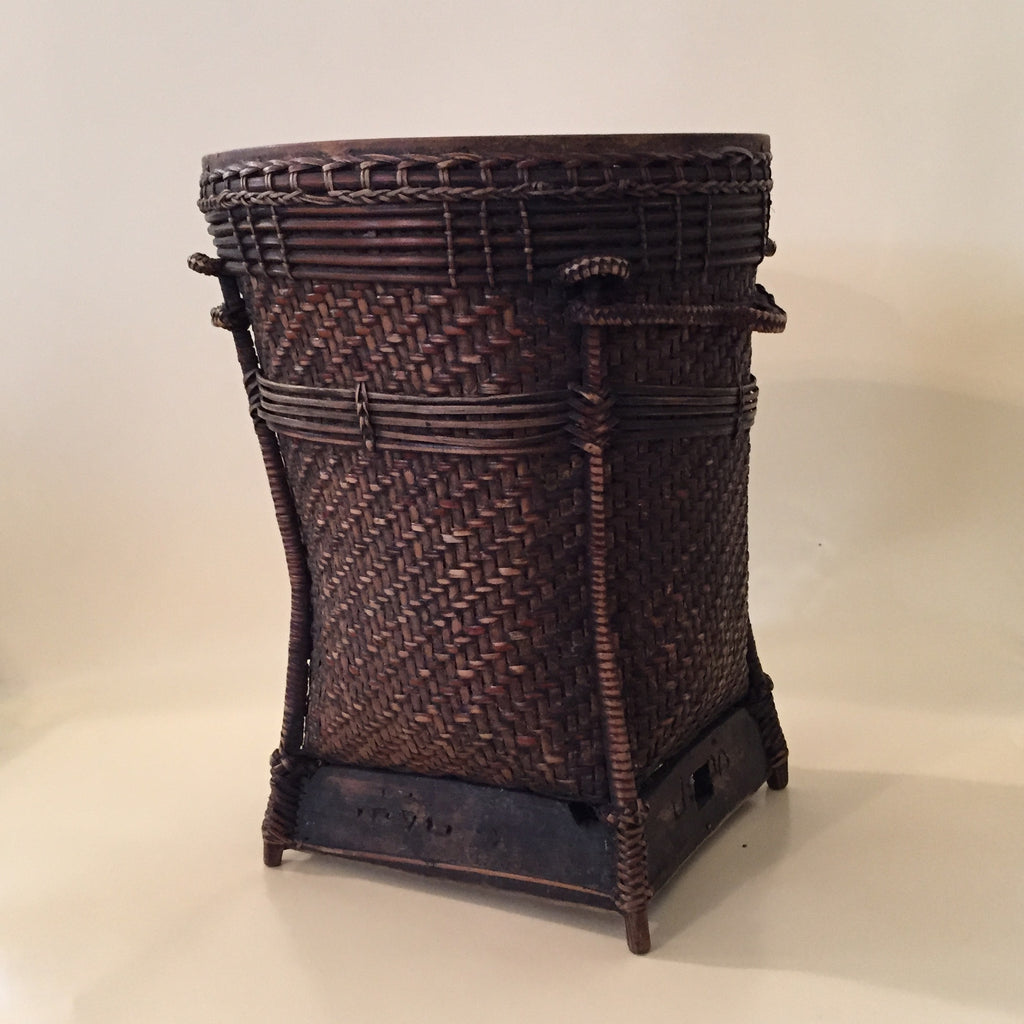 Antique Bamboo Rattan Basket