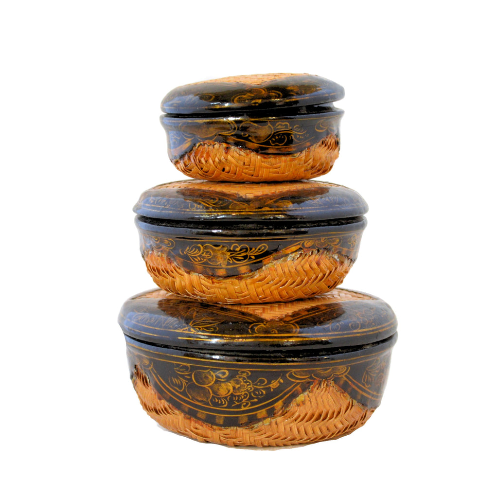 Lacquerware Nesting Boxes (set of 3)