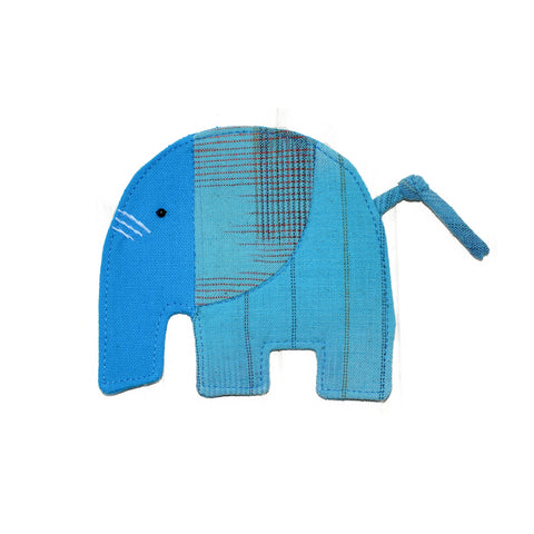 Cotton Elephant Coaster - Light Blue