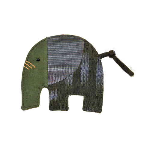 Cotton Elephant Coaster - Olive Green