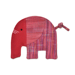 Cotton Elephant Coaster - Dark Red