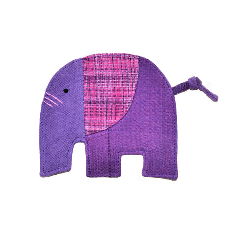 Cotton Elephant Coaster - Lavender