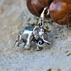 Large Sterling Silver Clip-on Elephant Charm