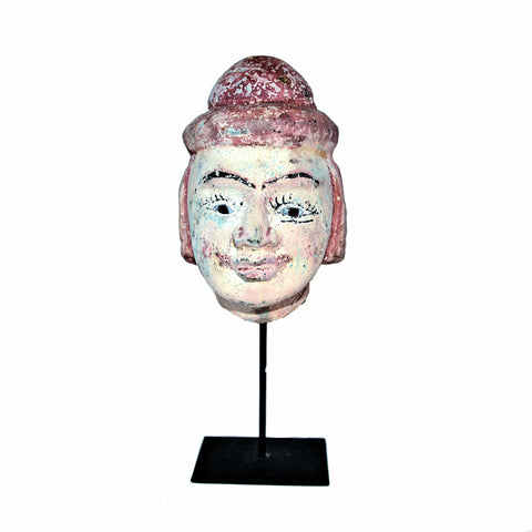 Medium Burmese Puppet Head on Stand