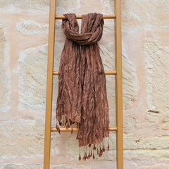 Cambodian Silk Scarf - Champa Tassel Collection
