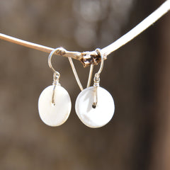 Conch Shell French Hook Earrings