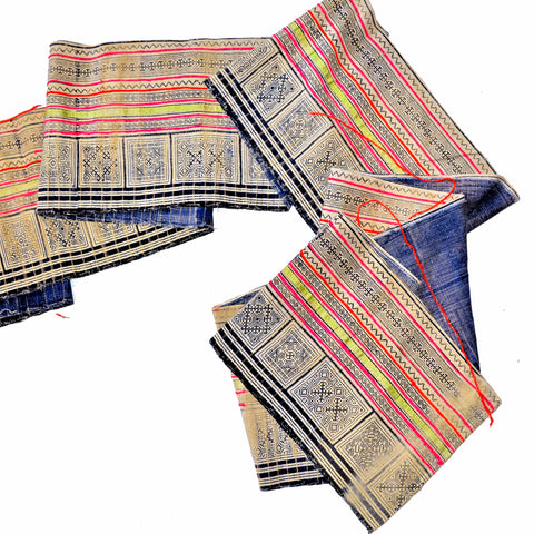 "Vintage Hmong Hill Tribe Fabric (17"" x 200"")"