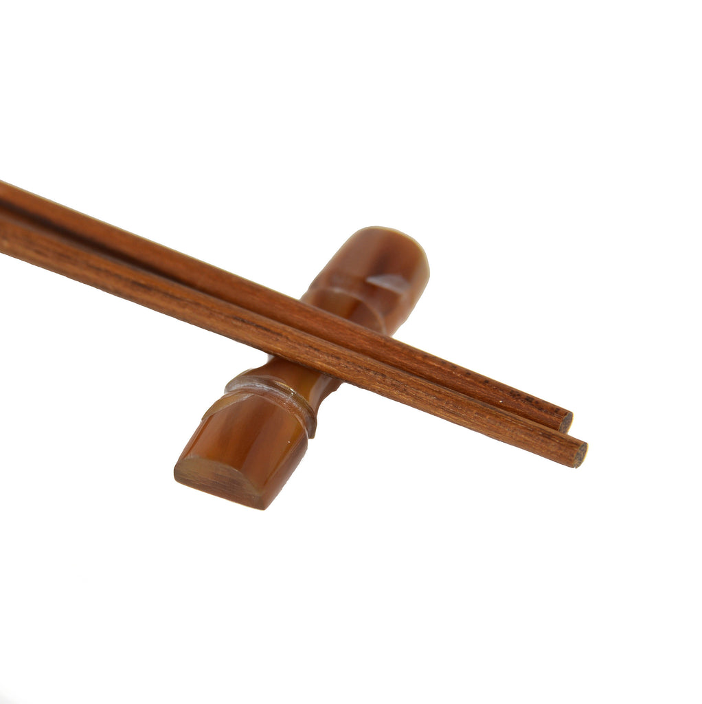 Chopstick Holder - Water Buffalo Horn Bamboo (natural color)