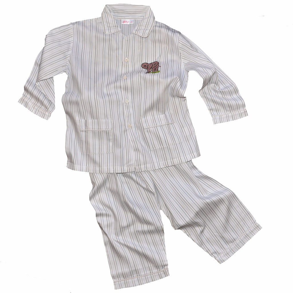 Cotton Pajamas with Embroidered Elephant (8 Year Old)