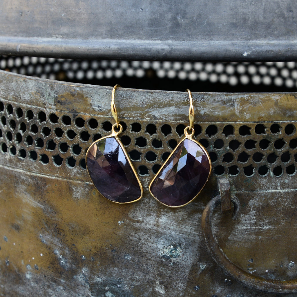 Sapphire Semi-Precious French Hook Earrings