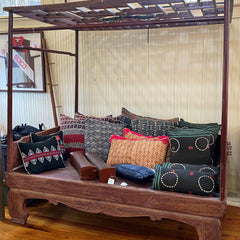 Late 17th Century Antique Thai Taksin Wooden Bed