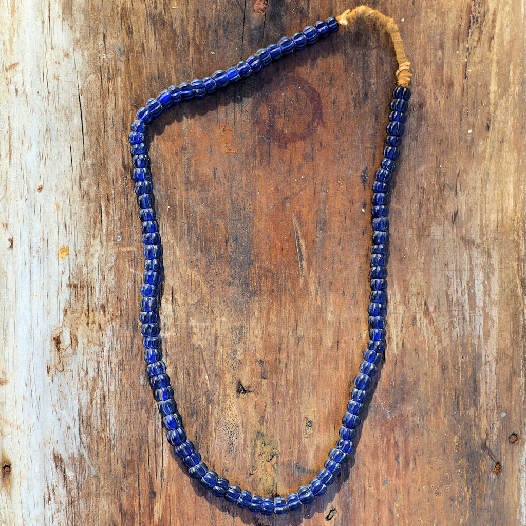 Navy Blue Bead Hill Tribe Necklace