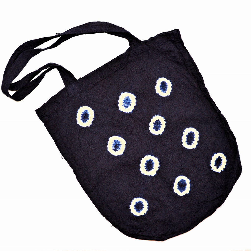 Indigo Tie-Dye Shopping Bag