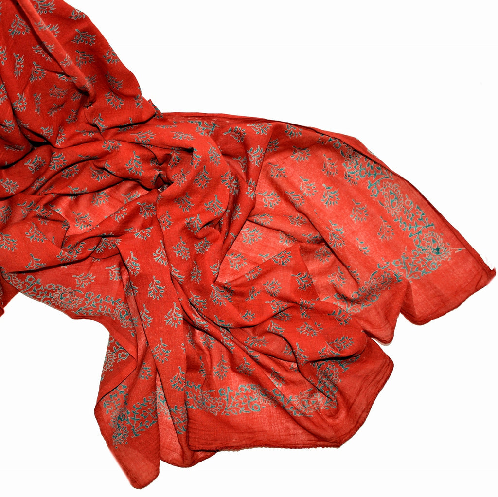 Printed Thai Silk Scarf