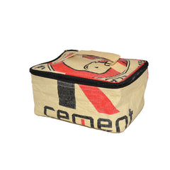Elephant Cement Cosmetic Bag / Lunch Bag - Rectangular