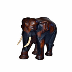 Hand Carved Elephant Figure (21 inch)
