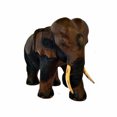 Hand Carved Elephant Figure (14 inch)