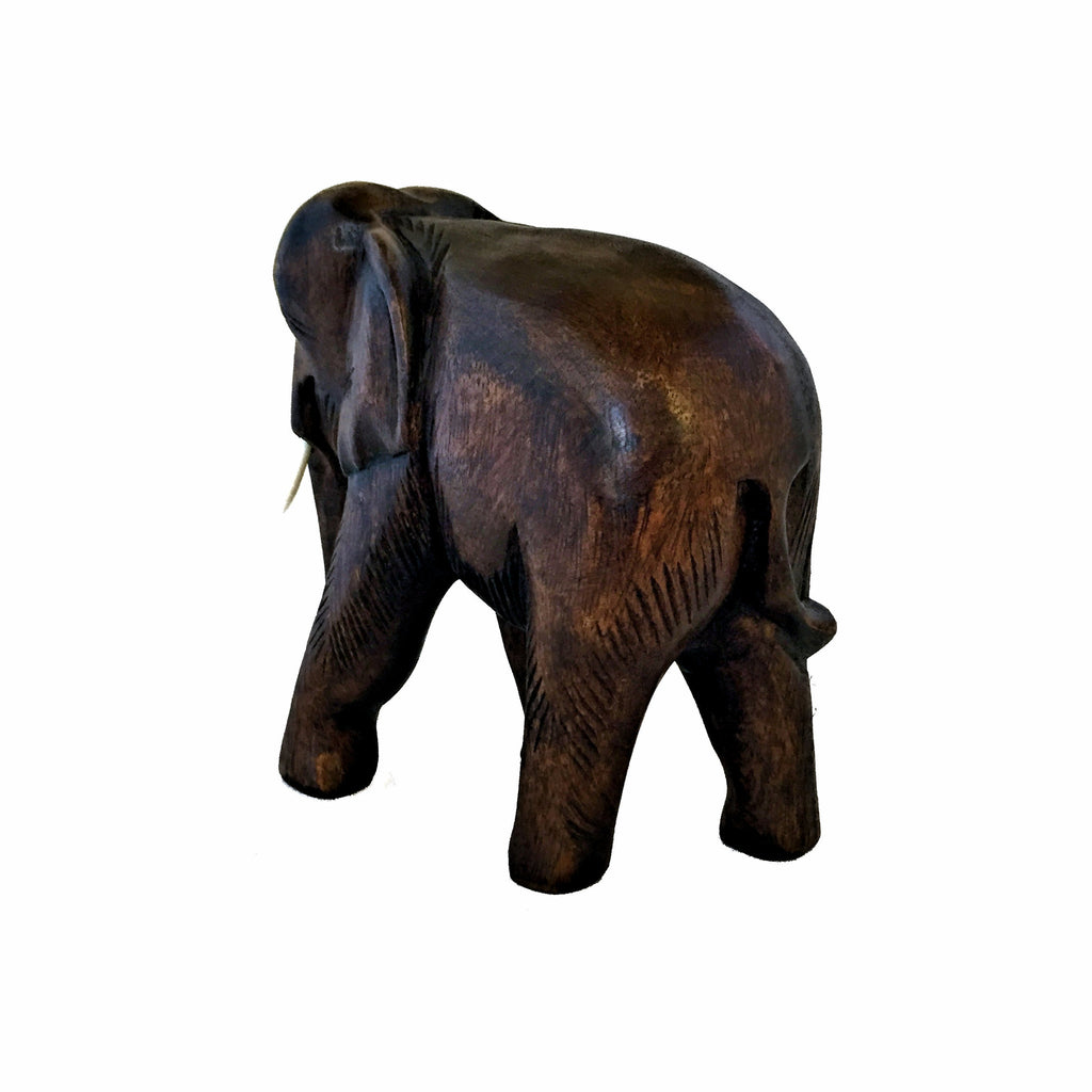 Hand Carved Elephant Figure (9 inch)