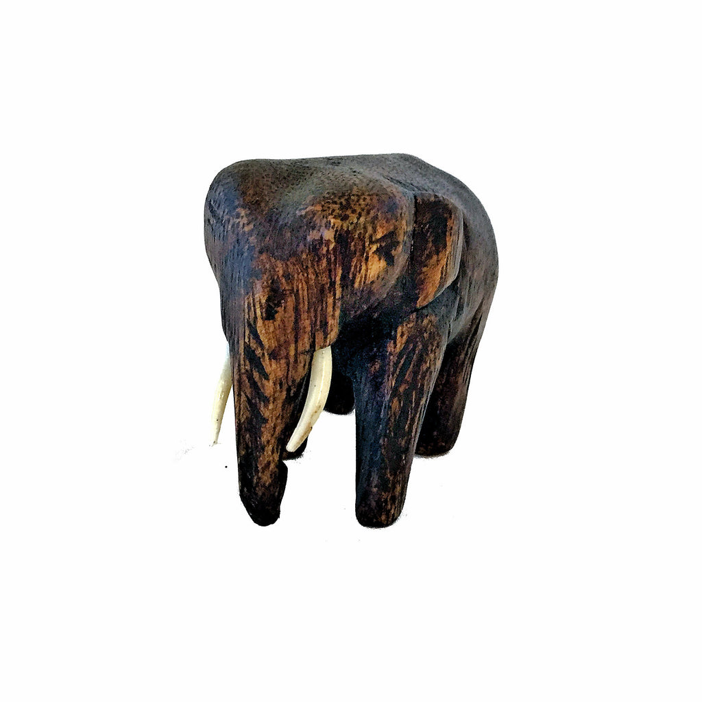 Hand Carved Elephant Figure (3 & 4 inch)