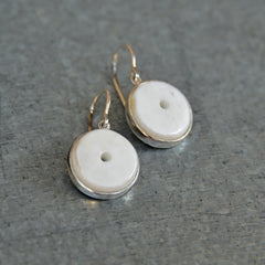 Silver Conch Shell Earrings