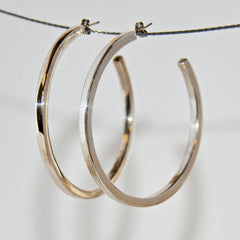 Sterling Silver Large Ring Studded Earrings