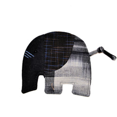 Cotton Elephant Coaster - Black