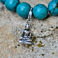 Small Sterling Silver Clip-on Buddha Charm