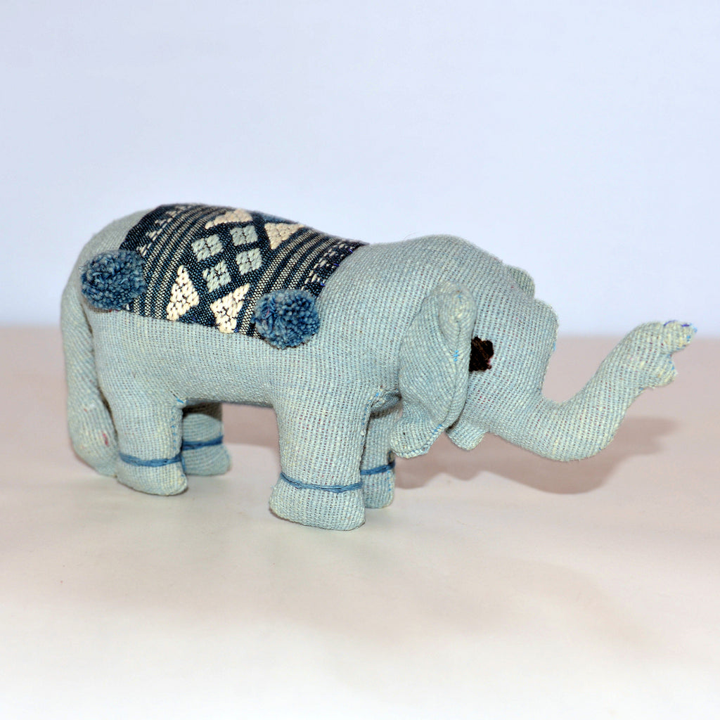 Light Blue Stuffed Elephant