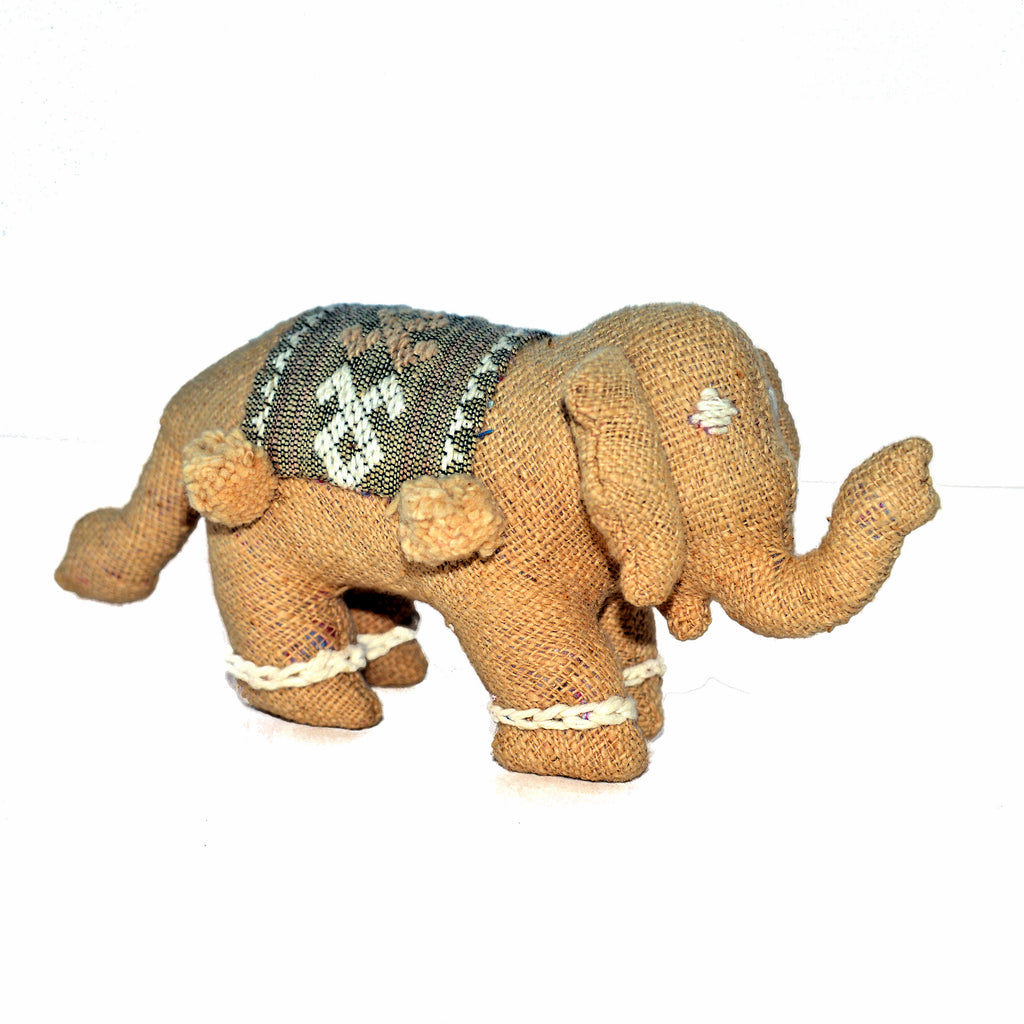 Tan Stuffed Elephant