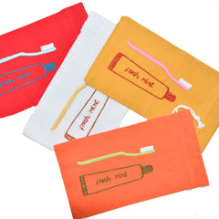 Toothbrush Bag with Drawstring